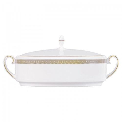 Vera Wang Lace Gold Covered Vegetable Dish